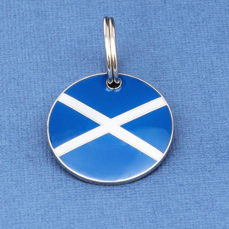 Scottish Flag Pet ID Tag