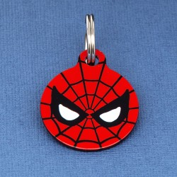 Spiderman Dog ID Tag