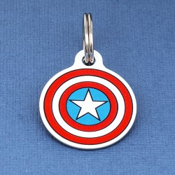 Captain America Dog ID Tag