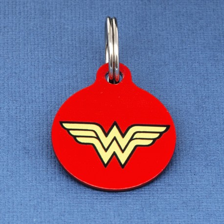 Wonder Woman Dog ID Tag