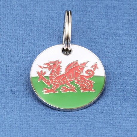 Welsh Flag Pet ID Tag