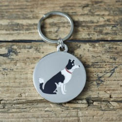Border Collie Dog ID Tag