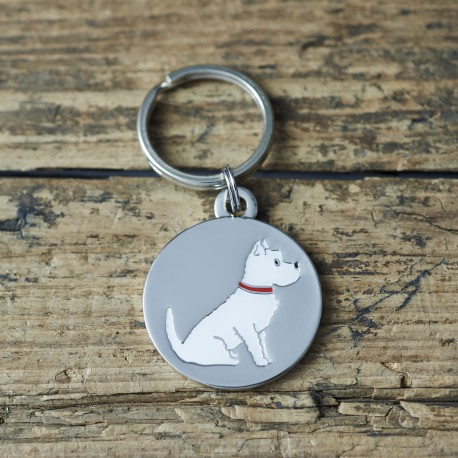 Westie Pet Tag With Engraving - West Highland White Terrier