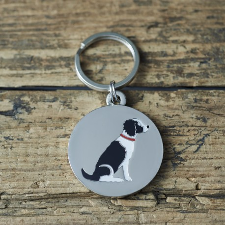 Black Springer Spaniel Dog ID Tag