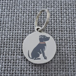 Staffie Dog ID Tag