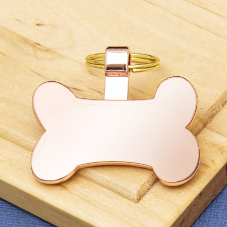Rose Gold Bone Dog ID Tag