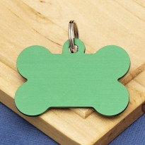 Green Bone Dog ID Tag