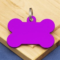 Purple Bone Dog ID Tag