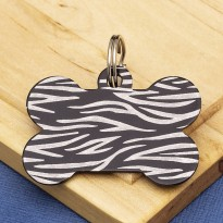 Black Bone Dog ID Tag Tiger Stripe