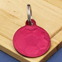 Football Dog ID Tag Red