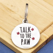 Talk to the Paw Dog ID Tag