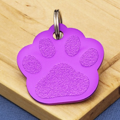 Purple Paw Dog ID Tag