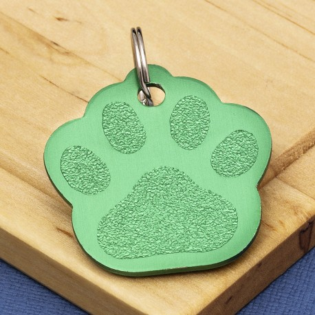 Green Paw Dog ID Tag