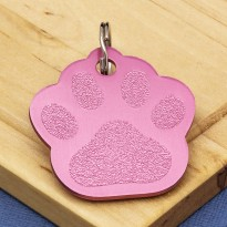 Red Paw Dog ID Tag