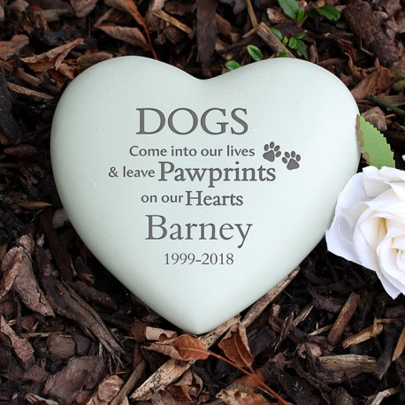 Dog Memorial Heart Personalised