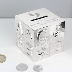 Personalised ABC Baby Money Box