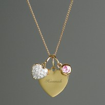 Personalised Sterling Silver & Gold Heart Pendant