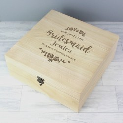 Personalised Bridesmaid Keepsake Box