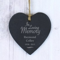 Personalised  Loving Memory Slate Heart