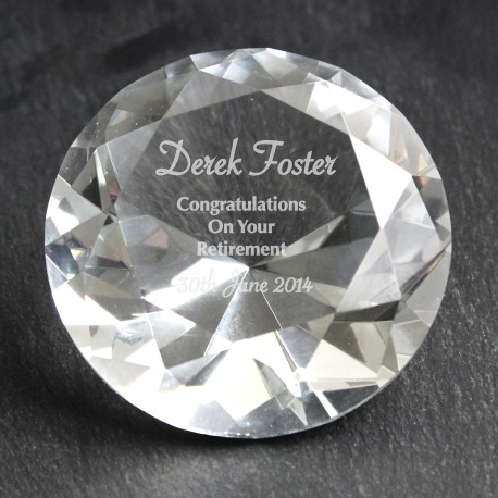 Personalised Occasion Diamond Paperweigh