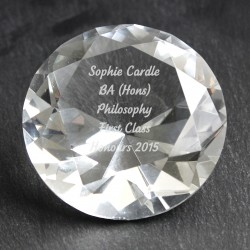 Personalised Diamond Paperweigh