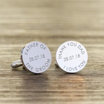 Personalised Father of the Groom Cufflinks