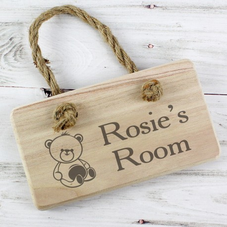 Personalised Teddy Sign