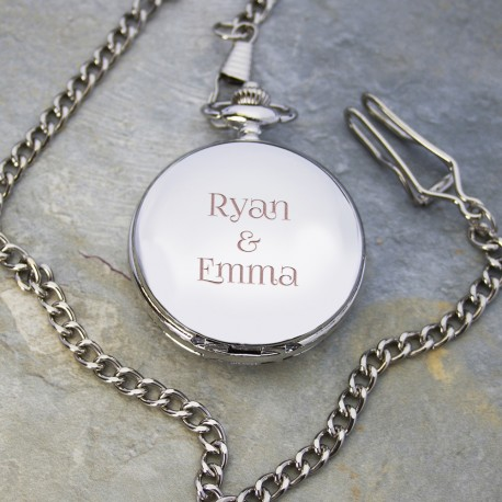 Personalised Any Message Fob Watch - Pocket Watch
