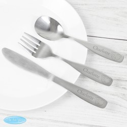 Personalised Teddy 3 Piece Cutlery Set