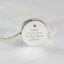 Personalised Any Message Disc Necklace
