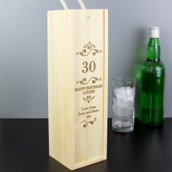Personalised Any Number Bottle Presentation Box