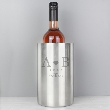 Personalised Initials and Date Wine Cooler
