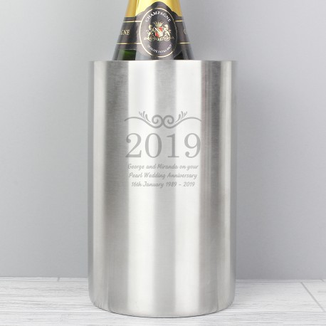 Personalised Any Number and Message Wine Cooler
