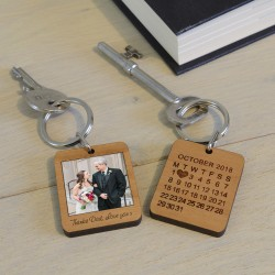 Personalised Key Ring - Special Date and Picture