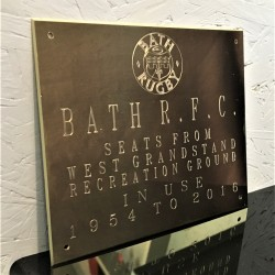 Brass Plaque Engraved Sign 6x4