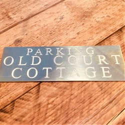 Brass Plaque Engraved Sign 8x4