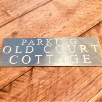 Brass Plaque Engraved Sign 8x2