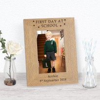 FIRST DAY AT SCHOOL Frame Personalised  6x4