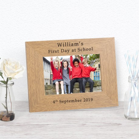 ...First Day at School Wood Frame 6x4