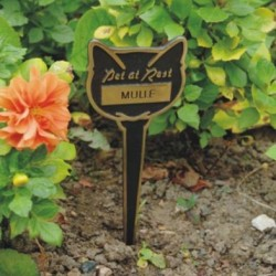 Cat Engraved Memorial Marker