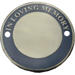 Bench Memorial Plaque Circular