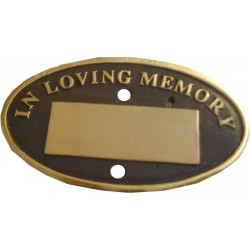 Bench Memorial Plaque Oval