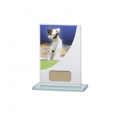 Glass Cricket Trophy