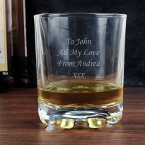 Personalised Whisky Tumbler Glass
