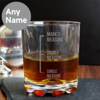 Personalised Measures Whisky Tumbler Glass