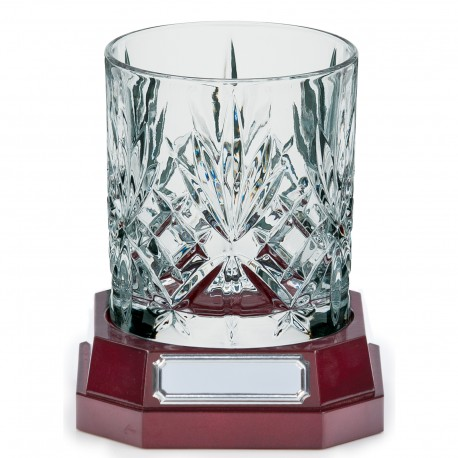 Engraved Crystal Whiskey Tumbler Glass