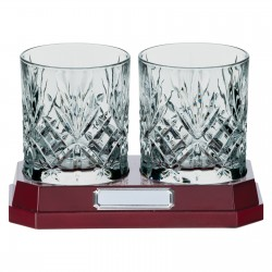 Engraved Crystal Whiskey Tumbler Glasses Set
