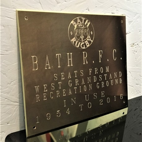 Brass Plaque Engraved Sign 7x5