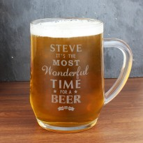 Wonderful Time for a Beer Glass