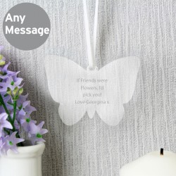 Personalised Acrylic Butterfly Decoration